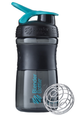 Шейкер спортивный BlenderBottle SportMixer 590ml (ORIGINAL) Black Teal