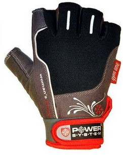 Перчатки Power System Woman's Power PS-2570 S, Black-Red