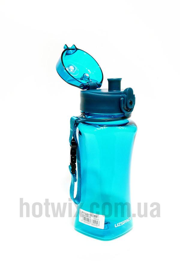 Бутылка для воды Uzspace: 350 мл. глянцевая Цвет: Голубой