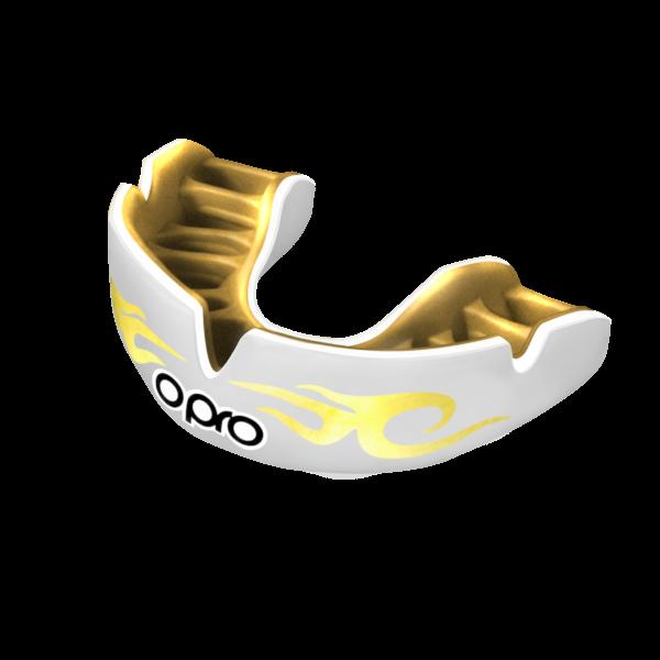 Капа OPRO Power Fit Bling Urban Series White/Gold (art.002269005)
