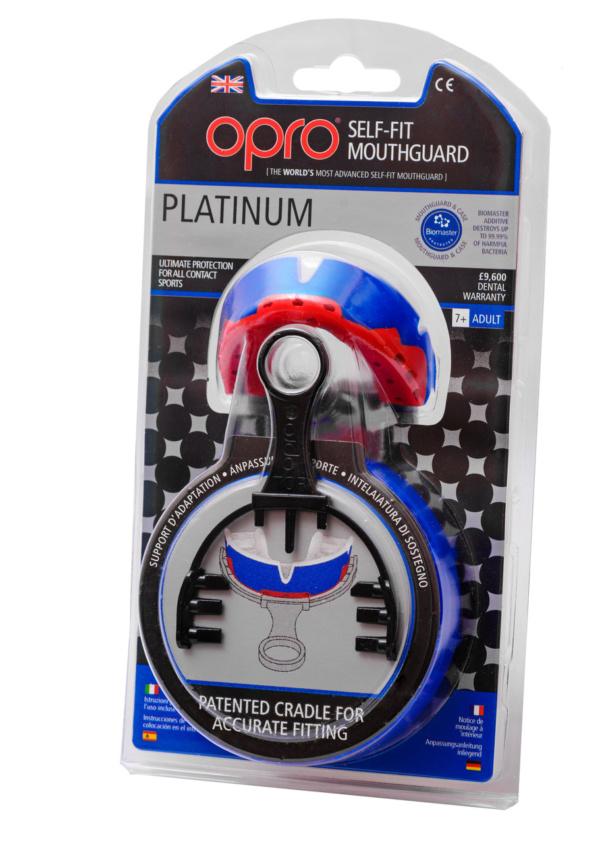 Капа OPRO Platinum Series Blue/Pearl/Red (art.002197001)