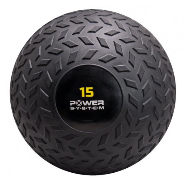 Мяч SlamBall для кросфита и фитнеса Power System PS 4117 15кг рифленый